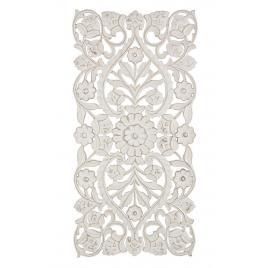 Decoratiune de perete din lemn alb antichizat vishal 60 cm x 1.7 cm x 120 h