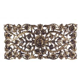 Decoratiune de perete din lemn auriu antic kiran 120 cm x 2.1 cm x 60 h
