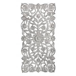 Decoratiune de perete din lemn gri antichizat vishal 60 cm x 1.7 cm x 120 h