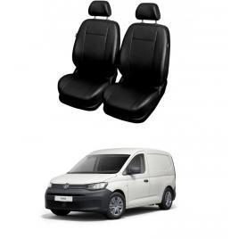 Huse Scaune din piele  Volkswagen Caddy Cargo V  van 2 locuri (1+1) 2015-2021