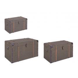Set 3 cufere depozitare verde travel 64 cm x 37 cm x 34 h