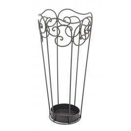 Suport umbrele din fier gri antracit charlotte 27 cm x 27 cm x 55 h
