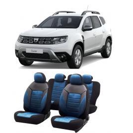 Set huse scaune auto dedicate Dacia Duster 2012-2019 Premium insertii de piele
