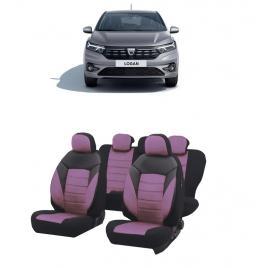 Huse scaune auto dedicate Dacia Logan 2020-2021 Premium insertii de piele