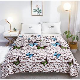 Pătură pufoasă de tip cocolino, Gri, Pietre, 200x230