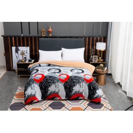 Pătură pufoasă de tip cocolino, Multicolor, 200x230