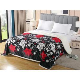 Pătură pufoasă de tip cocolino, Multicolor, Floral, 200x230