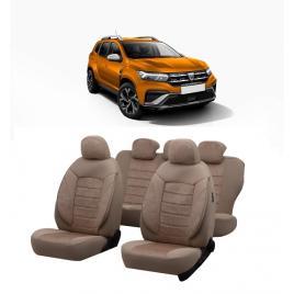 Set huse scaune auto dedicate Dacia Duster 2020-2021 Premium insertii de piele