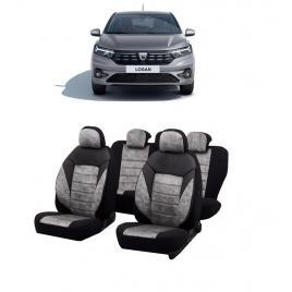Set huse scaune auto dedicate Dacia Logan 2020-2021 Premium insertii de piele