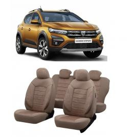 Set huse scaune auto dedicate Dacia Sandero Stepway 2020-2021