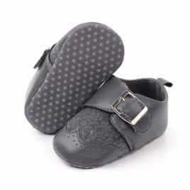 Pantofi eleganti gri cu catarama (marime disponibila: 3-6 luni (marimea 18...
