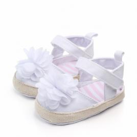 Pantofiori fetite cu floare alba (marime disponibila: 6-9 luni (marimea 19...