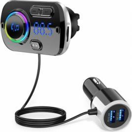 Bluetooth Handsfree Car Kit Fast cu incarcare rapida si afisaj Multicolor