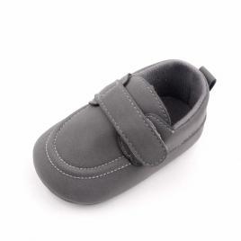 Pantofi eleganti gri cu bareta (marime disponibila: 6-9 luni (marimea 19...