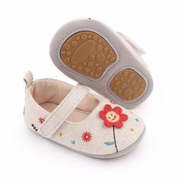 Pantofiori crem - floricica (marime disponibila: 12-18 luni (marimea 21...