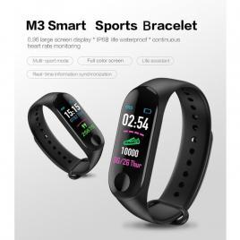 Bratara Smart Fitness M3 Plus, Unisex, Monitorizarea Sangelui Si Ritmului Cardiac,  Android Si IOS