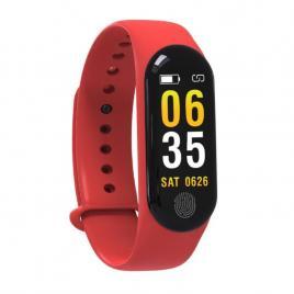 Bratara Smart Fitness M3 Plus, Unisex, Monitorizarea Sangelui Si Ritmului Cardiac, Pentru Android Si IOS, Rosu