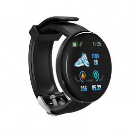 Ceas Smartwatch 1.3inch OLED, Bluetooth 4.0, Monitorizare Tensiune, Puls, Oxigenarea Sangelui, Waterproof IP65, Negru