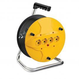 Prelungitor cu tambur 20m x 3 x1.5mm, 4 prize, lava sockets