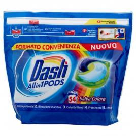 Dash detergent ecodosi pods 3 in 1  pentru rufe colorate 54 spalari
