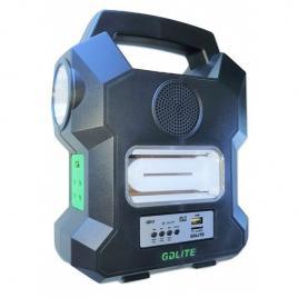 Kit solar portabil gdlite gd-1000a, cu 4 becuri incluse si radio fm, bluetooth
