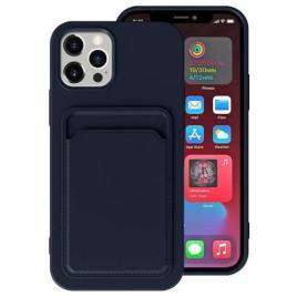 Husa telefon iphone 12 / 12 pro tpu cu suport pentru carduri albastra