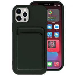 Husa telefon iphone 12 / 12 pro tpu cu suport pentru carduri verde