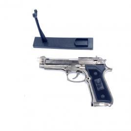Bricheta anti vant tip pistol, metalic, cu suport pentru vitrina Dga