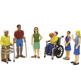 Set de 6 figurine persoane cu handicap - miniland
