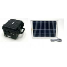Sistem solar de 20W cu baterie pentru camere de securitate - 12V + 5V USB SO202