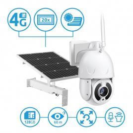 Camera IP PTZ 4G Secutek SBS-NC67G-20X cu incarcare solara - 1080p, 60m IR, 20x zoom
