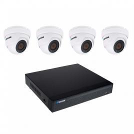 Kit de camere Secutek SLG-NVR3604CDP1FE800 - 4x 8MP Lite dome camera, NVR