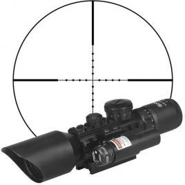 Luneta profesionala cu laser si reticul iluminat, m9 ls3-10x42e rifle scope