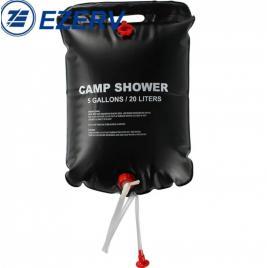 Dus solar camping, portabil ,culoare negru , 20 de litri