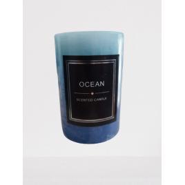 Lumanare parfumata, miros placut ,ocean fresh, culoare albastru
