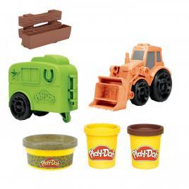 Play-doh set wheels:tractorul