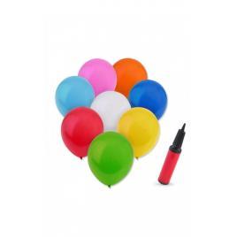Pompa umflat articole gonflabile, 10 baloane incluse , culoare rosie