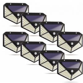 Set 8 lampi 100led   cu incarcare solara, senzor de miscare si 3 moduri de functionare