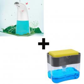 Set dispenser bucatarie + dozator sapun spuma cu senzor