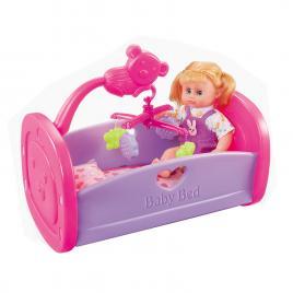 Patut de jucarie cu papusa inclusa Baby Bed