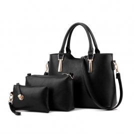 Set Geanta Dama piele (geanta, portfard si portofel)