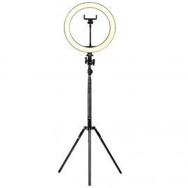 Lampa circulara 18 inch cu trepied, 3 faze lumina