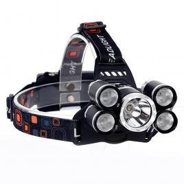 Lanterna de cap cu 5 leduri, 5w