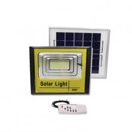 Proiector led cu panou solar, 100w, telecomanda inclusa