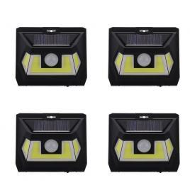 Set 4 x lampi led cob solara lf 1622 cu senzor de miscare