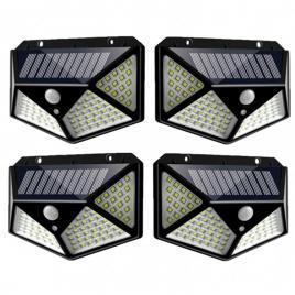 Set 4 x lampi solara 100 led ultra cu senzor de miscare
