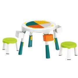 Masa compatibila Lego plianta cu 2 scaune incluse-verde