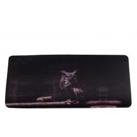 Mousepad, XXL, gaming si birou, 900 x 400 x 3mm, textil cu baza cauciucata, desen Bufnita
