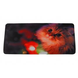 Mousepad, XXL, gaming si birou, 900 x 400 x 3mm, textil cu baza cauciucata, desen Pisicuta