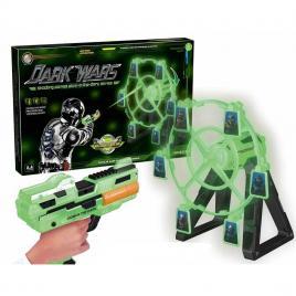 Set pistol de jucarie cu tinta rotativa si sunete Dark Wars